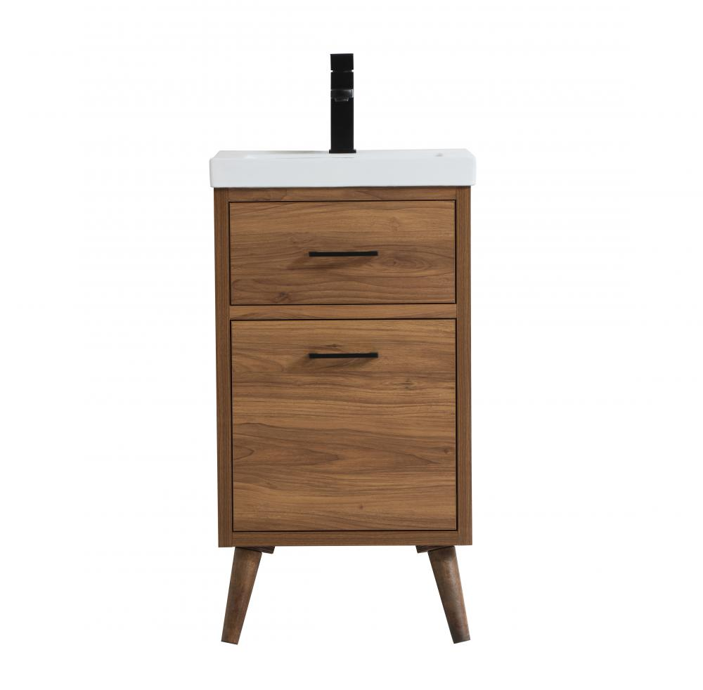 18 Inch Bathroom Vanity In Walnut Brown J46r4 Alloway Lighting Co