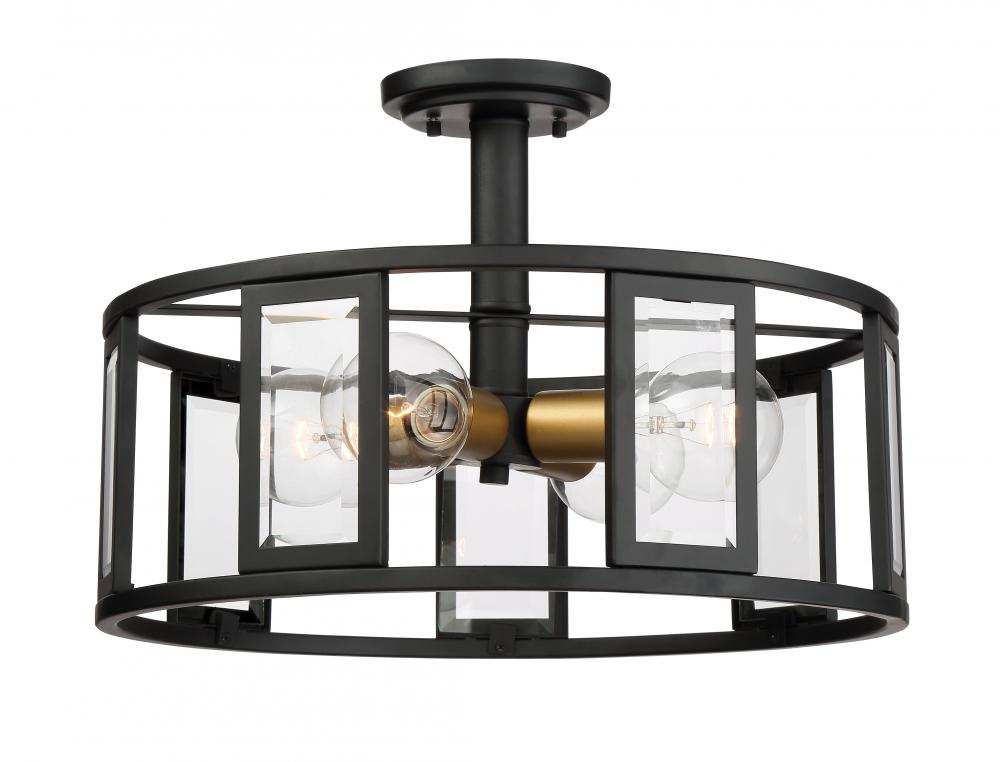Payne 4 Light Semi Flush R5je Alloway Lighting Co