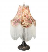 11h Fabric Fringe Floral Night Light 6003 Alloway Lighting Co